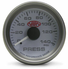SAAS White Oil Pressure Gauge 52 mm electrical multi color LED