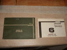 JAGUAR SERIES III OWNERS HANDBOOK MANUAL SET ORIGINAL GLOVEBOX BOOK RARE!!!