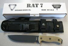 NEW Ontario 8604 RAT 7 RAT7 Survival Knife & Sheath 1095 Steel Made in the USA!!