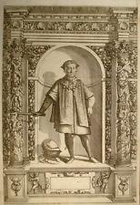 1603 Gian Giacomo Trivulzio der Große Kupfer Portrait von Custos nach Fontana