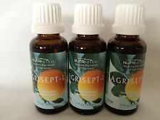 NEW & SEALED 3 BOTTLES AGRISEPT ORIGINAL CITRUS SEED Extract FRESH EXP 11-2019