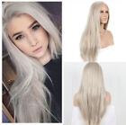 Women's Hair Platinum Blonde Front Lace Wigs Synthetic Heat Resistant  Wig+Cap