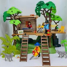 Playmobil Country Treehouse Family Camping Forest Ladder Kid Figures Lot