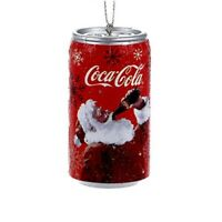 Vintage Santa Drinking Coca Cola Can Christmas Tree Ornament Coke CC1152 New