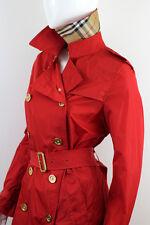 BURBERRY WOMEN'S RED RAINCOAT TRENCH COAT SIZE US6 UK8