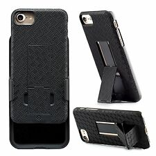 WizGear Shell Holster Combo Case for Apple iPhone 7/8 With Kick-Stand, Belt Clip