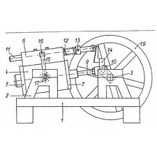 Bauplan Gleichstrom- Dampfmaschine