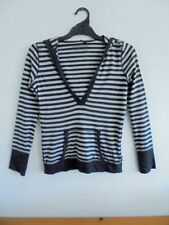 Cotton Machine Washable Casual Striped Tops for Women