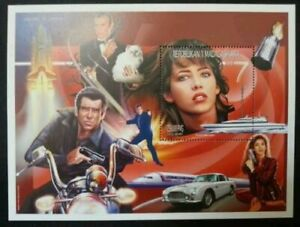 [SJ] Madagascar History Of Cinema James Bond 007 1999 Movie Actor Car (ms) MNH