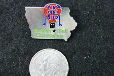 HOT AIR BALLOON LAPEL PIN 1981 BALLOON MAIL U.S. NATIONALS