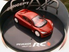 COFFRET PEUGEOT RC CARREAU CONCEPT CAR NOREV 1/43 RED ROUGE ROSSO ROT