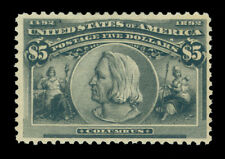 US 1893  COLUMBIAN Exposition  $5.00  black Scott # 245  UNUSED  VF