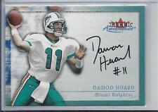 DAMON HUARD 2000 FLEER AUTOGRAPHICS RARE DOLPHINS ON CARD AUTO