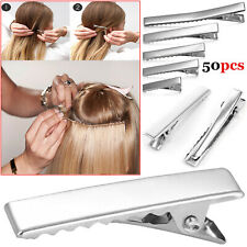 50Pcs Metal Hair Sectioning Clips Set Sprung Strong Grip Hairdressing Hair Clip