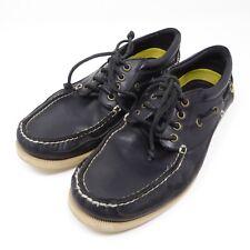 Polo Ralph Lauren Mens Soren Boat Shoes Black Yellow Size 11 D Leather Casual