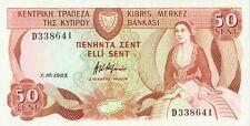 Cyprus P-49 50 cents 1983 UNC