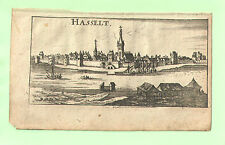 """Hasselt - Kupferstich von Riegel – aus """"der Rheinstrom"""" - um 1690"""
