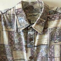 Cooke Street Reverse Print Hawaiian Shirt Men's Large L