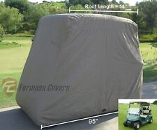 2 Passengers Golf Cart Storage Cover Fit EZ Go,Club Car,Yamaha Cart. Taupe. New
