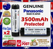 2x Protected Panasonic XERO 18650GA 3500mAh Li-Ion Rechargeable Battery GENUINE