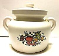 "Mc Coy Pottery Bean Pot Spice of Life Number 341 EUC USA 8.5"" X 6"""