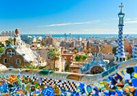 BARCELONA SPAIN NEW A3 CANVAS GICLEE ART PRINT POSTER FRAMED