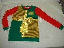 Tiara Intl Ugly Christmas Sweater Customizable Gods Gift To Women Or Men Med