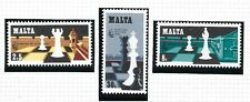 MALTA STAMPS : SG 652/4 1980 CHESS MNH SET SEE SCAN.