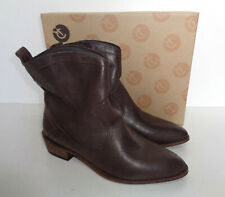 RED OR DEAD New Ladies Sawyer Brown Leather Ankle Boots Shoes RRP £85 UK Size 4