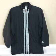 Adidas Mens Puff Quilted Nylon Jacket Coat Size XL Vintage