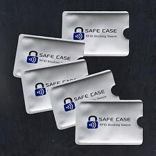 5x RFID Schutzhülle Kartenschutzhüllen NFC Blocker Schutz EC Karte Kreditkarte
