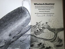 1972 (SIGNED) Whales & Destiny. Stackpole Rivalry Whale fishery 1785-1825. hc dj