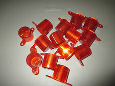 """LOT OF 14 LAZER-TRON AFTERSHOCK REDEMPTION GAME RED 1"""" BULB / LAMP COVER, GUC"""