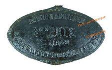 Plaque fonte COMICE AGRICOLE Prix en 1902 St Maixent French farm iron cast plate