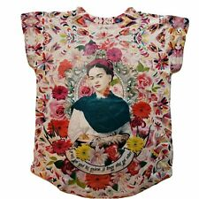 Frida Kahlo Floral Otomi Graphic Tee Mexican T-shirt
