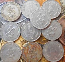 10 Coins LOT - 2 Rupees (Saint Tukaram) 2002 Commemorative: Saint Tukaram