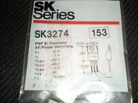 RCA SK3274 PNP TRANSISTOR TO-220 REPL NTE153, ECG153 sk