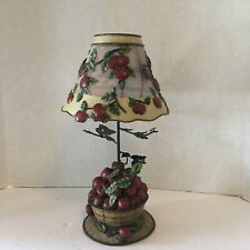 Home Interiors Apple Orchard Tea Light Lamp with Shade