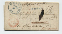 1837 New Brunswick NJ hollow letter stampless forwarded twice [5247.64]