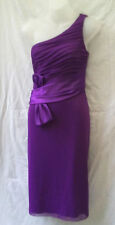 Size 10 NEW Laura K Formal Dress One Shoulder Purple Cocktail Occasion Evening