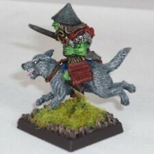 Goblin Wolfrider with katana Warhammer Fantasy Armies 28mm Unpainted Wargames