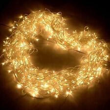 Mains Plug Fairy String LED Lights Christmas Tree Decorations Flashing Lights