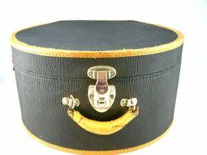 Antique Everlasting Lock Hat Suitcase 1920s Downton Abbey Era Hat Box Travel