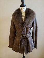 JESSICA WILDE Genuine Fox & Rabbit Fur Shearling Coat Jacket