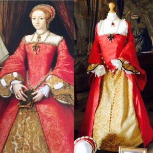 Queen Elizabeth I Portrait Costume Medieval Renaissance Tudor Gown Dress