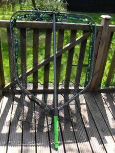 Gunki Pike Addict Folding Net & Handle 90 x 100cm Rubberized Hugh Net! 26739