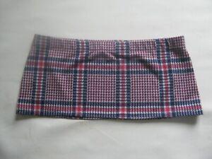"9"" Length Blue White Pink Small Check Micro Mini Skirt Plus Size 16 - 18"