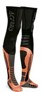 Acerbis X-Leg Motocross Knee Brace Sock Black/Orange L/XL UK 8-9