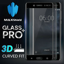 MAXSHIELD 3D Curved Full Coverage Tempered Glass Screen Protector For Nokia 6
