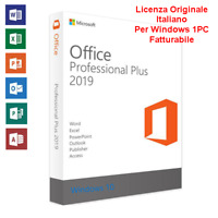 MS Office 2019 Professional Plus 32/64 Bit Licenza Originale Chiave Fatturabile